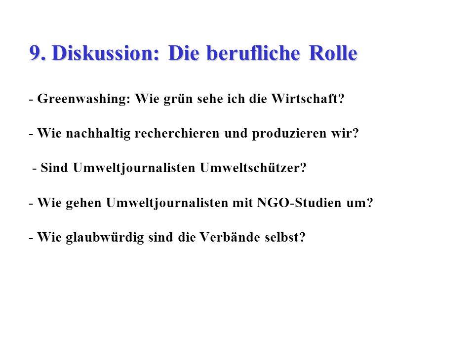9. Diskussion: Die berufliche Rolle