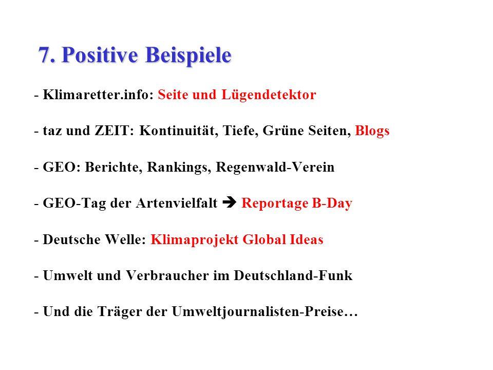 7. Positive Beispiele