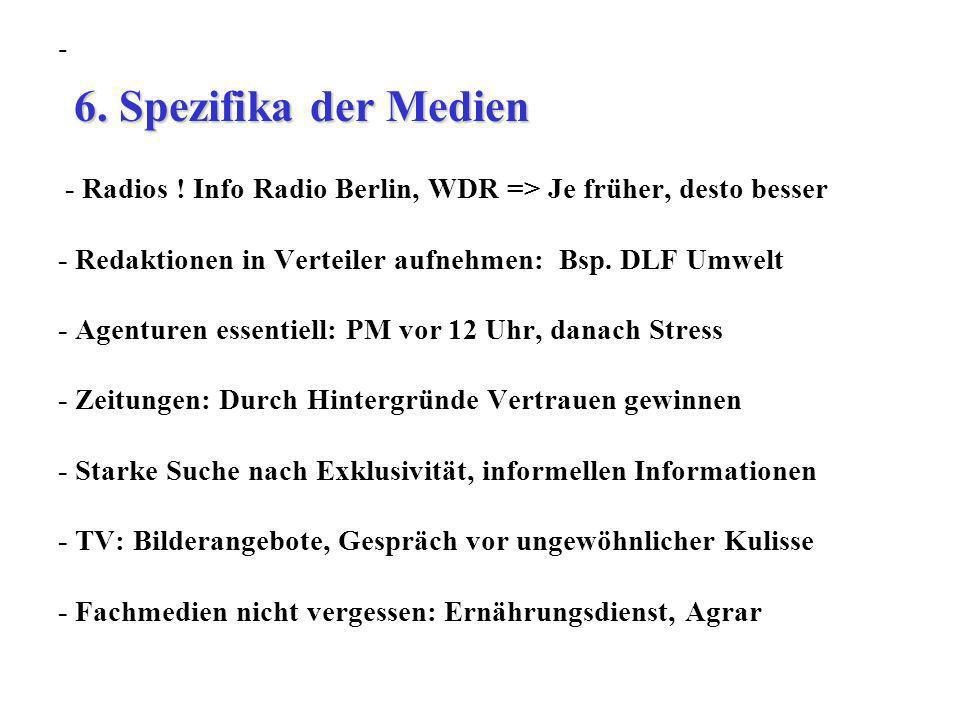 6. Spezifika der Medien