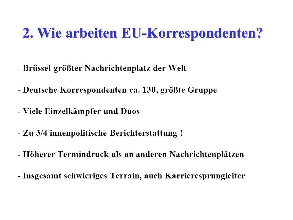 2. Wie arbeiten EU-Korrespondenten