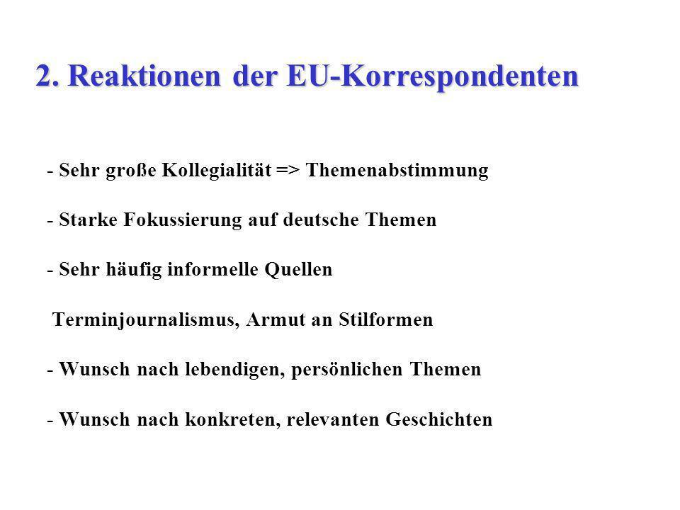 2. Reaktionen der EU-Korrespondenten