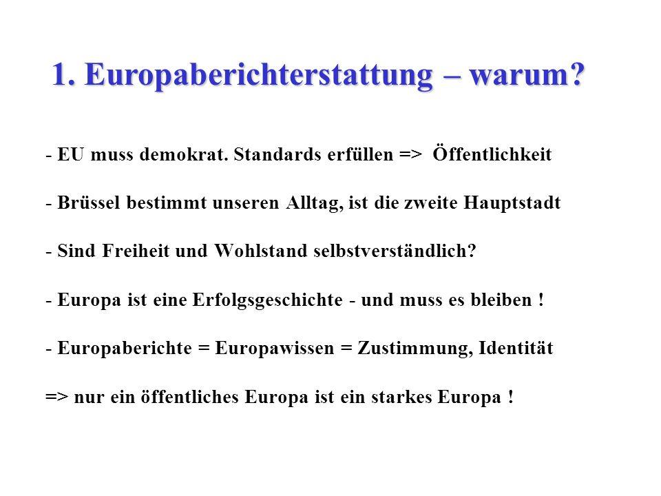 1. Europaberichterstattung – warum