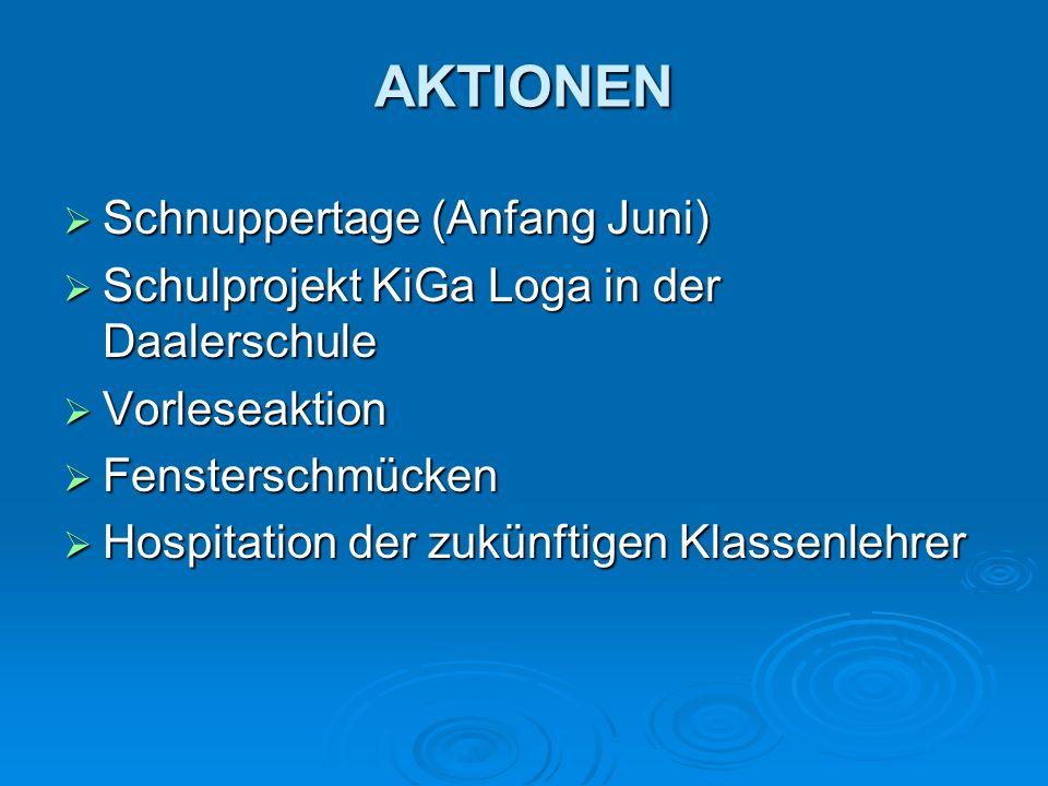 AKTIONEN Schnuppertage (Anfang Juni)