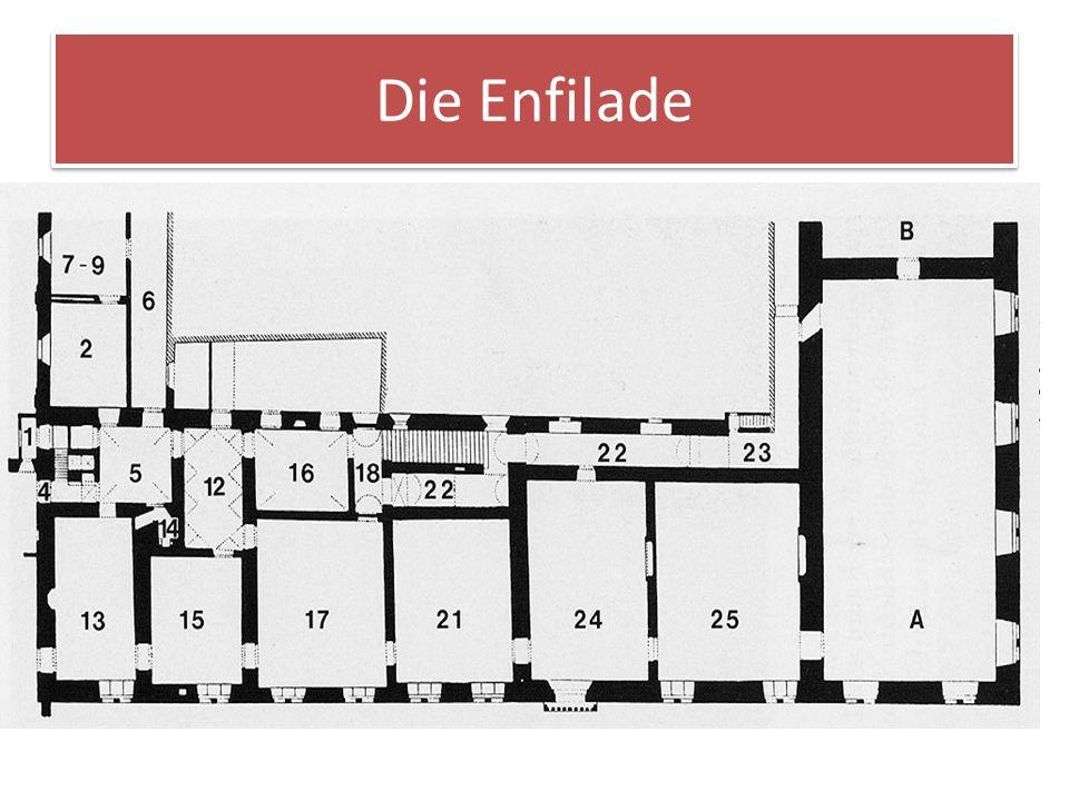Die Enfilade Im piano nobile entsteht eine Raumfolge, wie sie das päpstliche Zeremoniell vorschreibt: