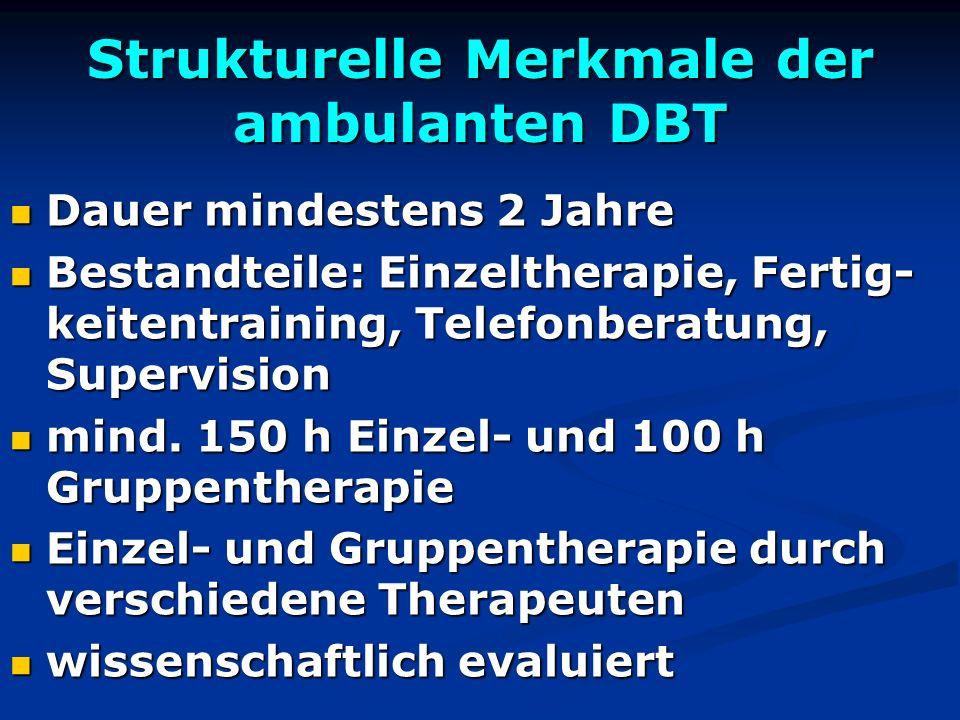 Strukturelle Merkmale der ambulanten DBT