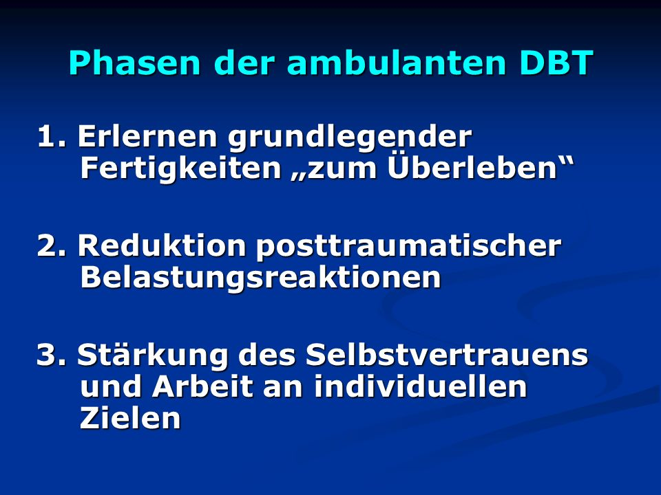 Phasen der ambulanten DBT