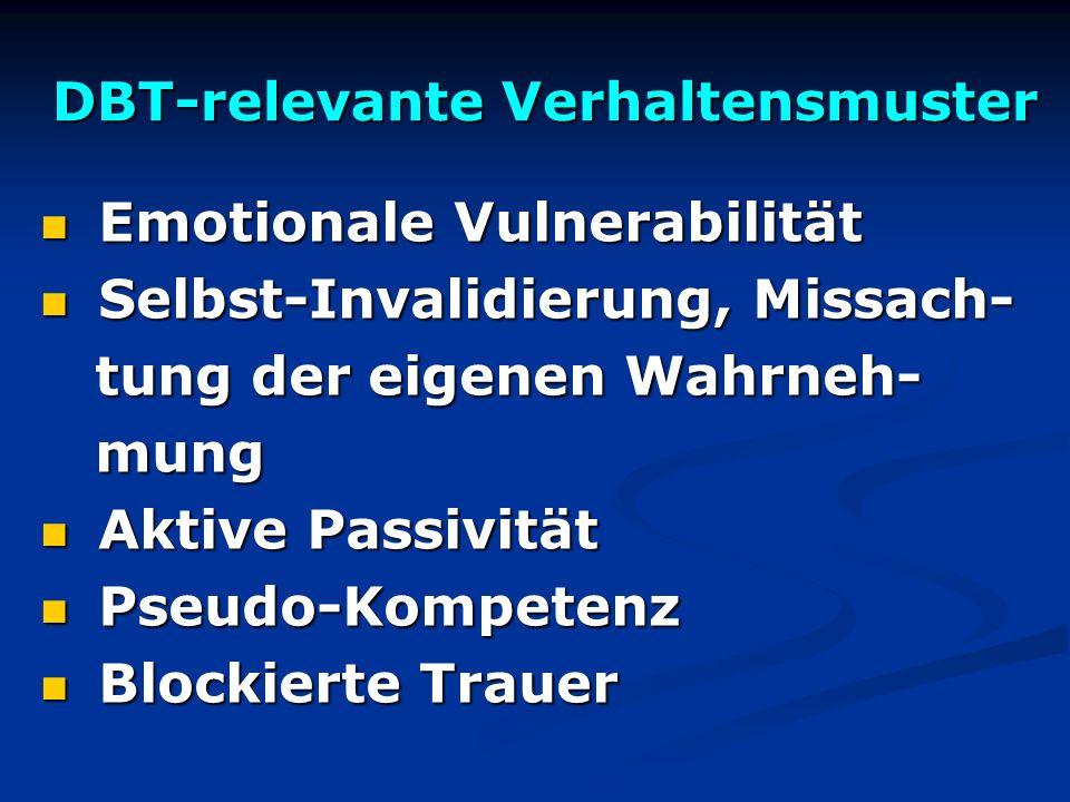 DBT-relevante Verhaltensmuster