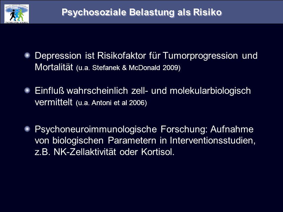 Psychosoziale Belastung als Risiko