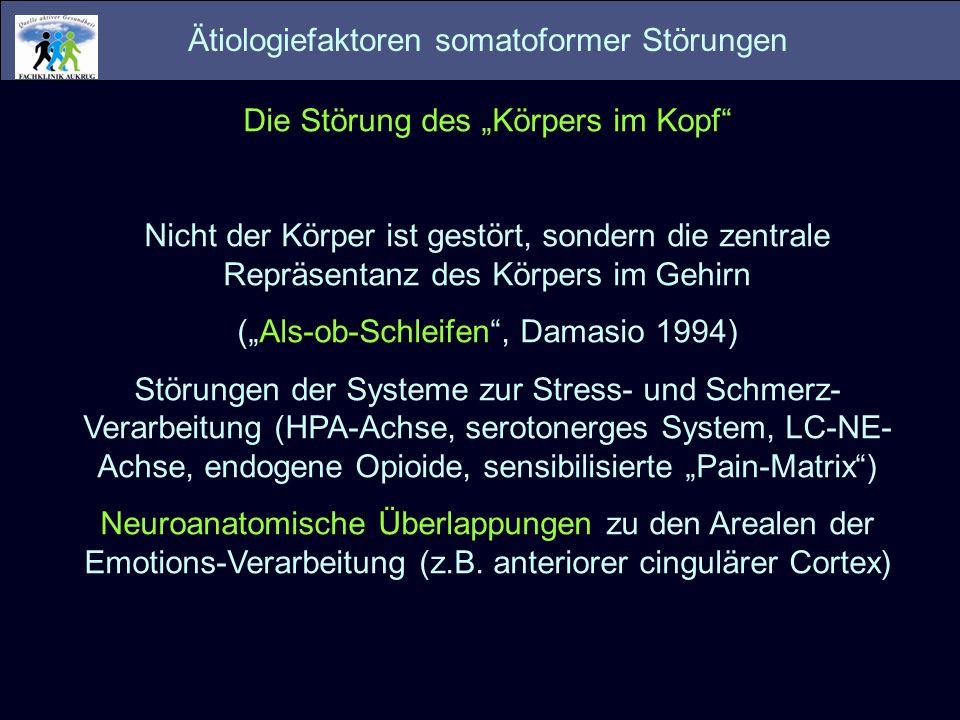 Ätiologiefaktoren somatoformer Störungen
