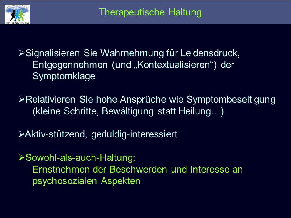 Therapeutische Haltung
