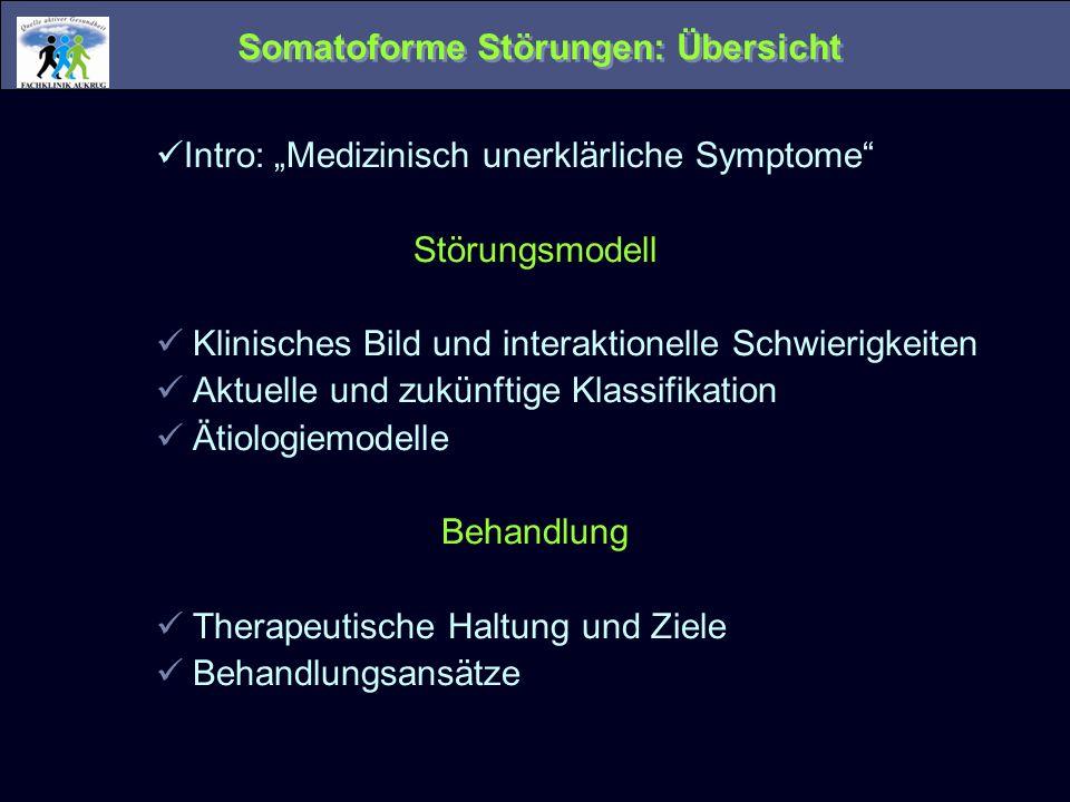 Somatoforme Störungen: Übersicht