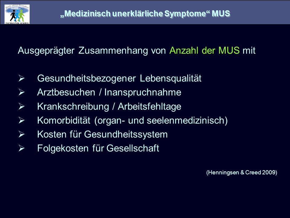 """""""Medizinisch unerklärliche Symptome MUS"""