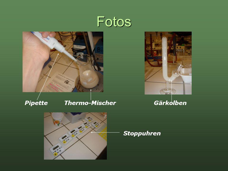 Fotos Pipette Thermo-Mischer Gärkolben Stoppuhren
