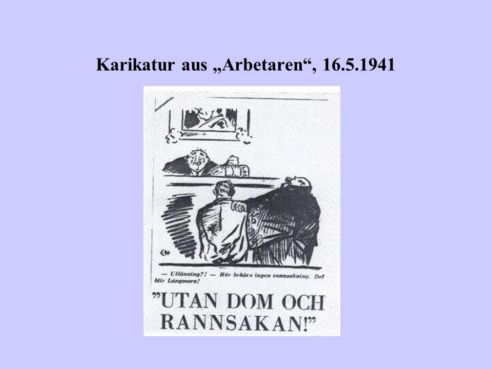 "Karikatur aus ""Arbetaren , 16.5.1941"