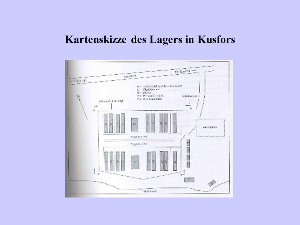 Kartenskizze des Lagers in Kusfors