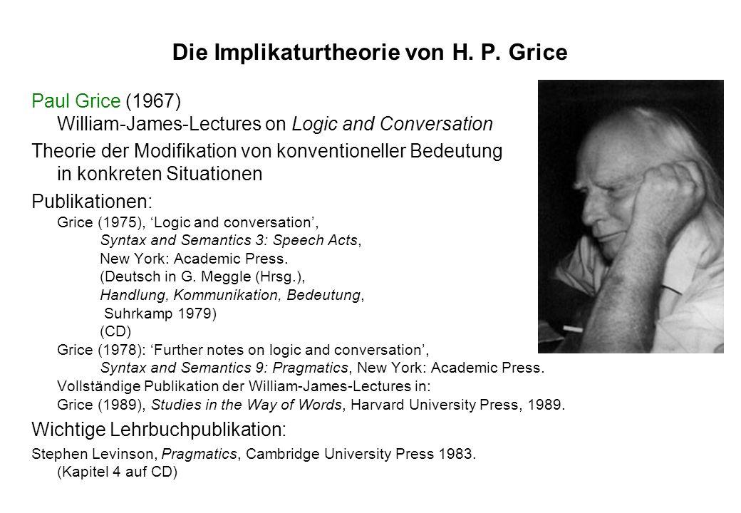 Die Implikaturtheorie von H. P. Grice