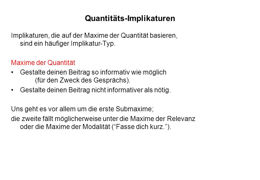 Quantitäts-Implikaturen