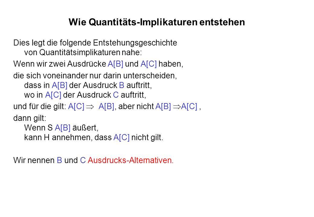 Wie Quantitäts-Implikaturen entstehen