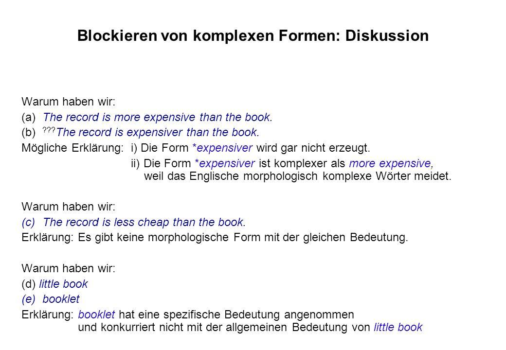 Blockieren von komplexen Formen: Diskussion
