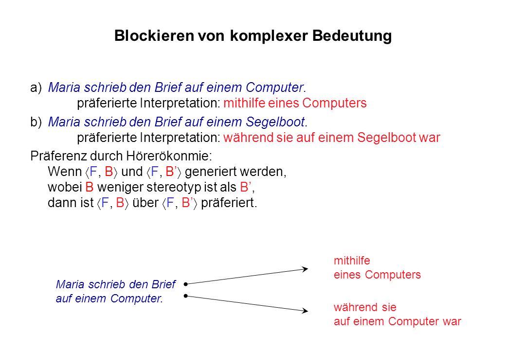 Blockieren von komplexer Bedeutung