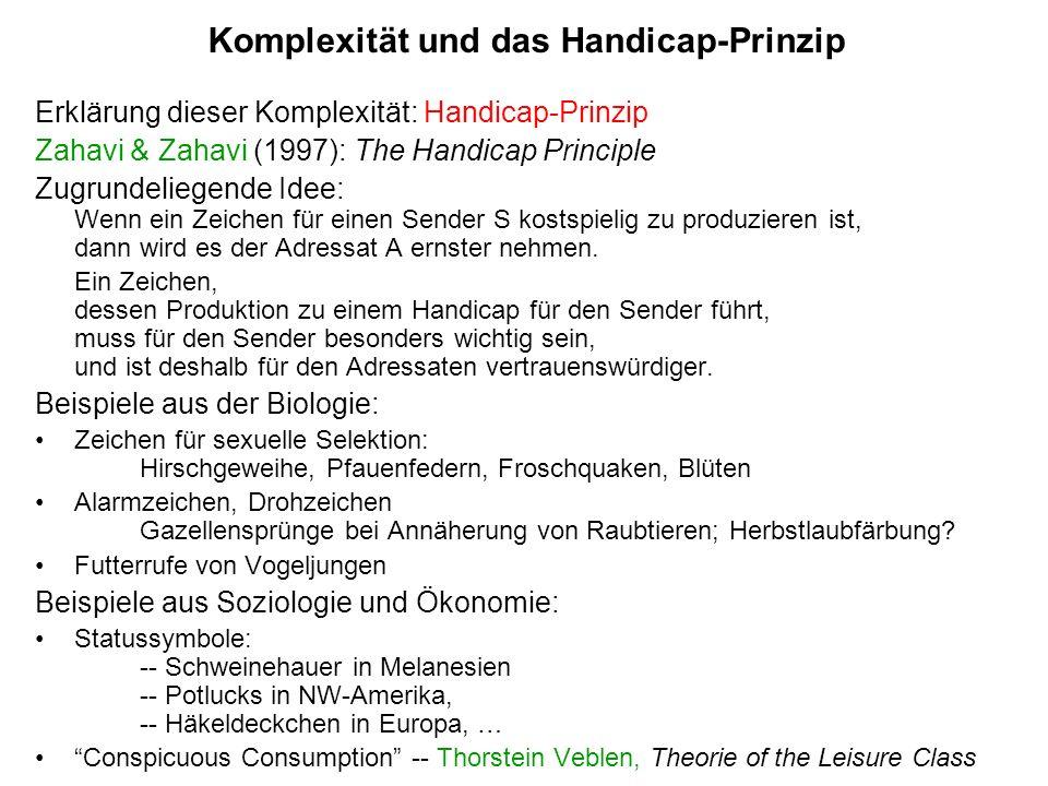 Komplexität und das Handicap-Prinzip