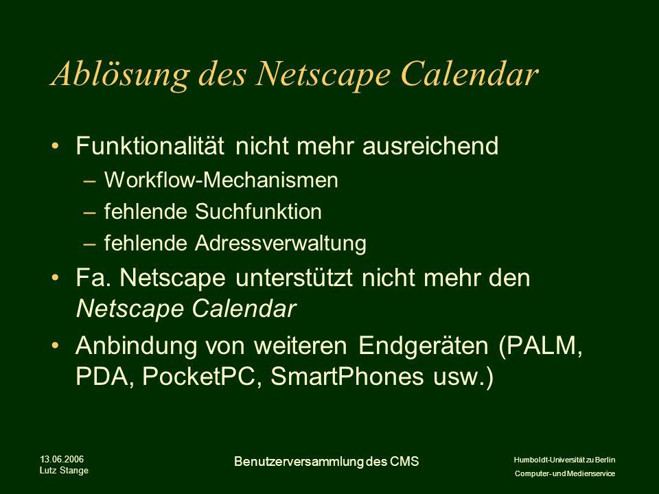 Ablösung des Netscape Calendar