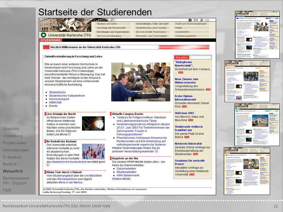 Startseite der Studierenden