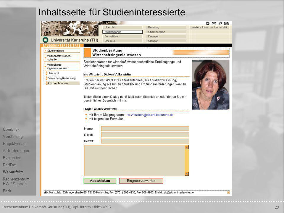 Inhaltsseite für Studieninteressierte