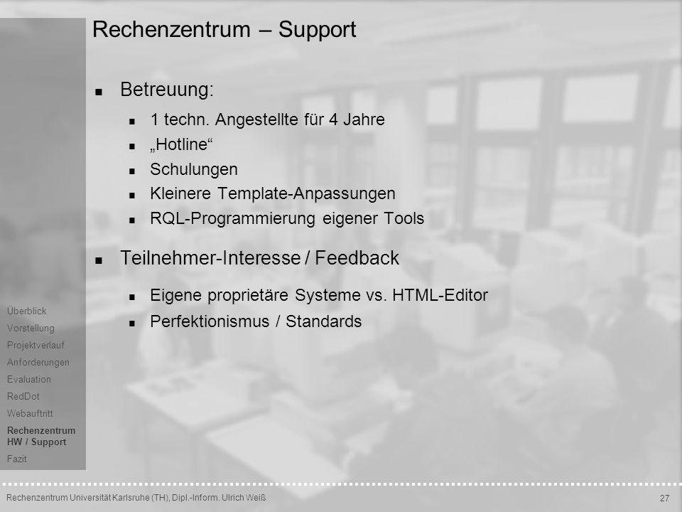 Rechenzentrum – Support