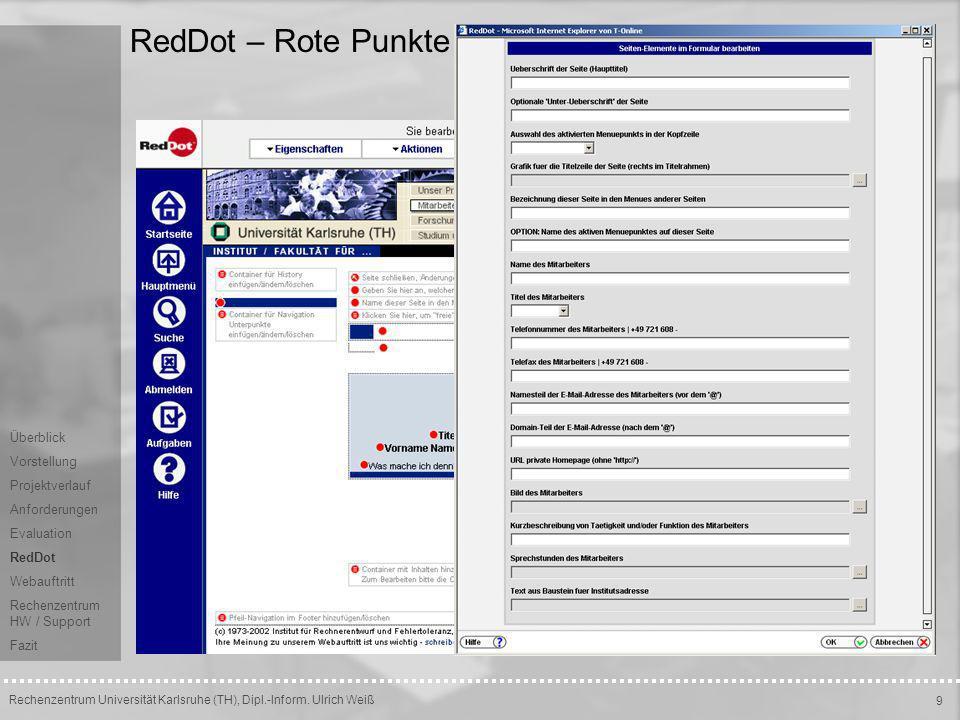 RedDot – Rote Punkte Überblick Vorstellung Projektverlauf
