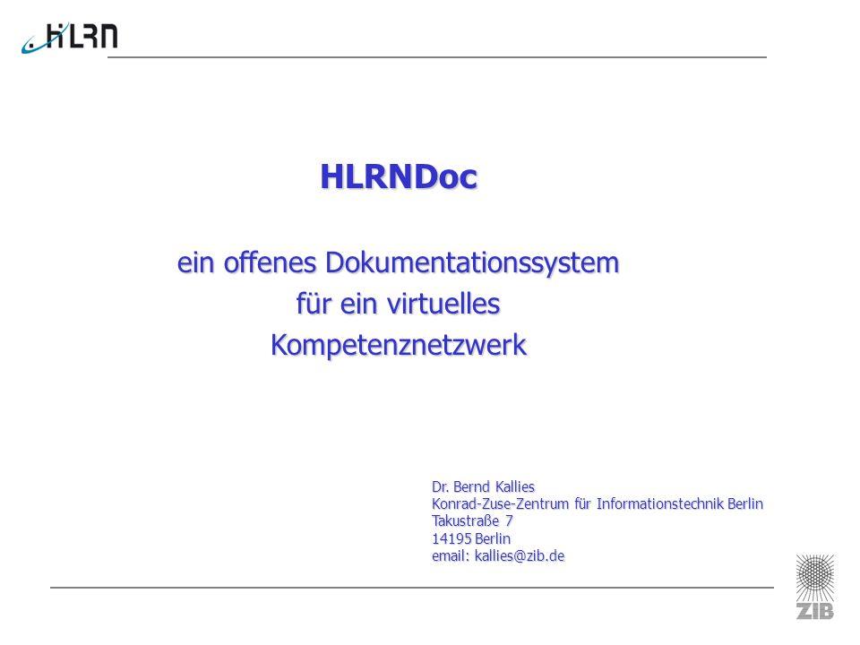 ein offenes Dokumentationssystem für ein virtuelles Kompetenznetzwerk