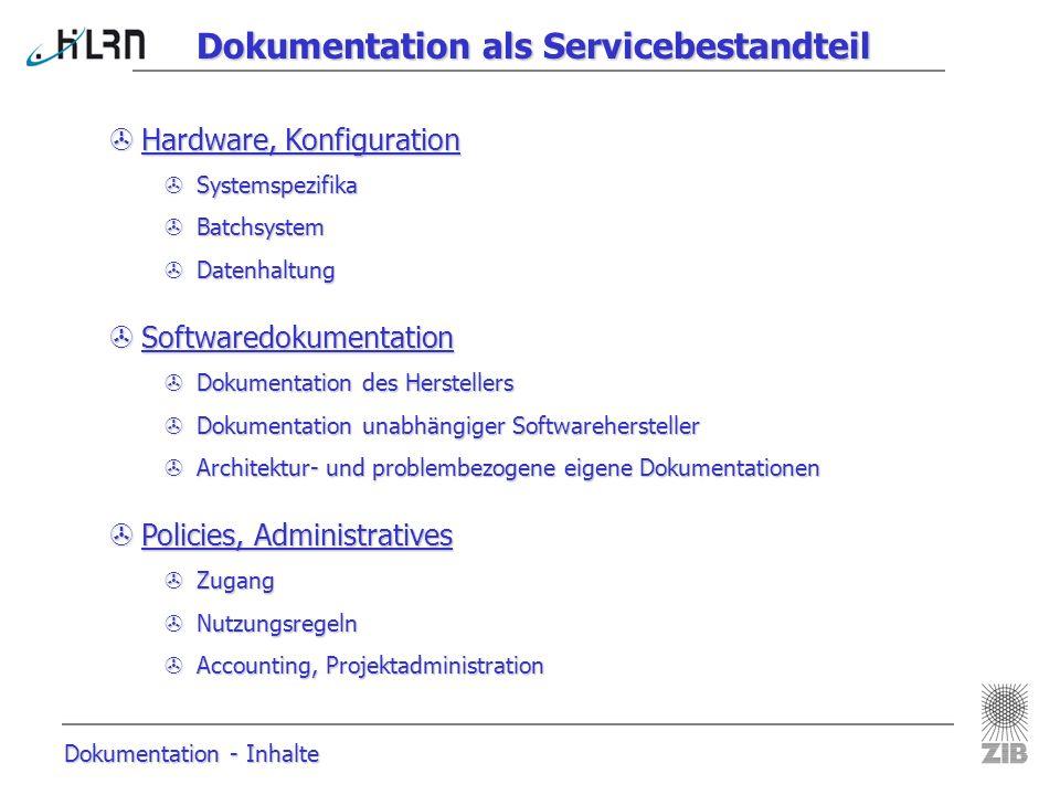 Dokumentation als Servicebestandteil