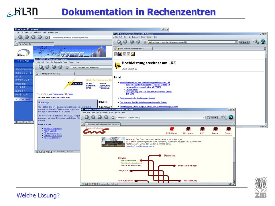 Dokumentation in Rechenzentren
