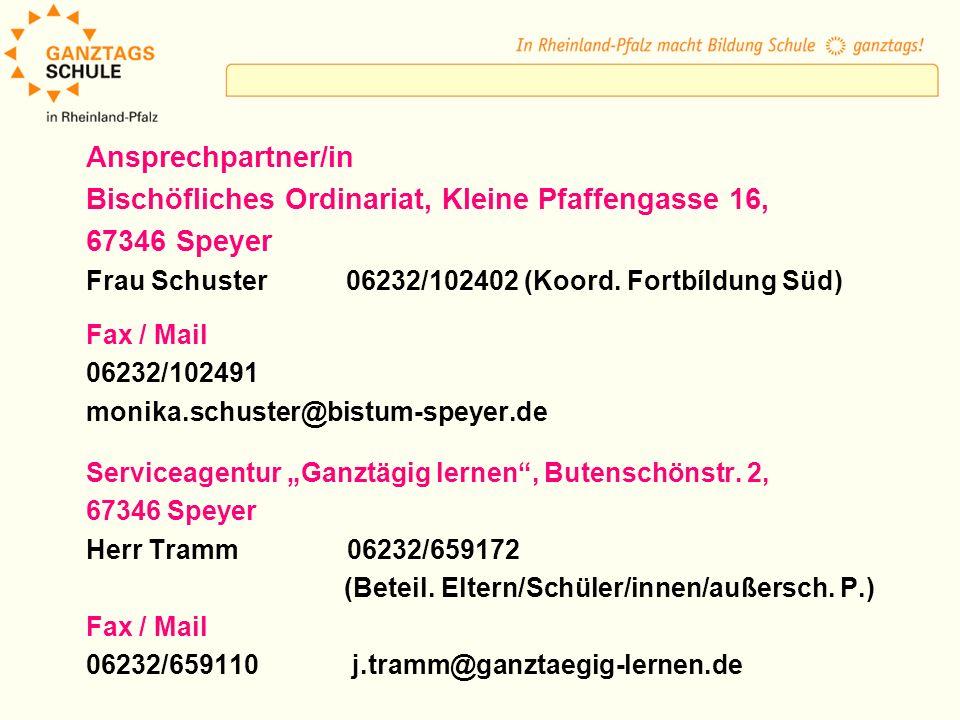 Bischöfliches Ordinariat, Kleine Pfaffengasse 16, 67346 Speyer
