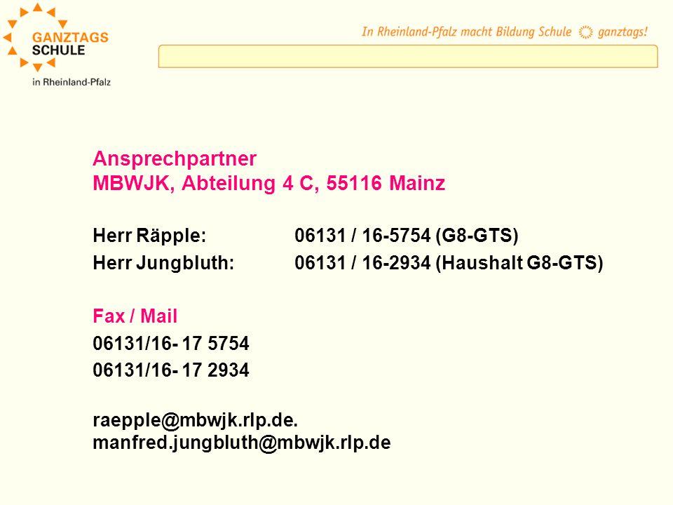 MBWJK, Abteilung 4 C, 55116 Mainz