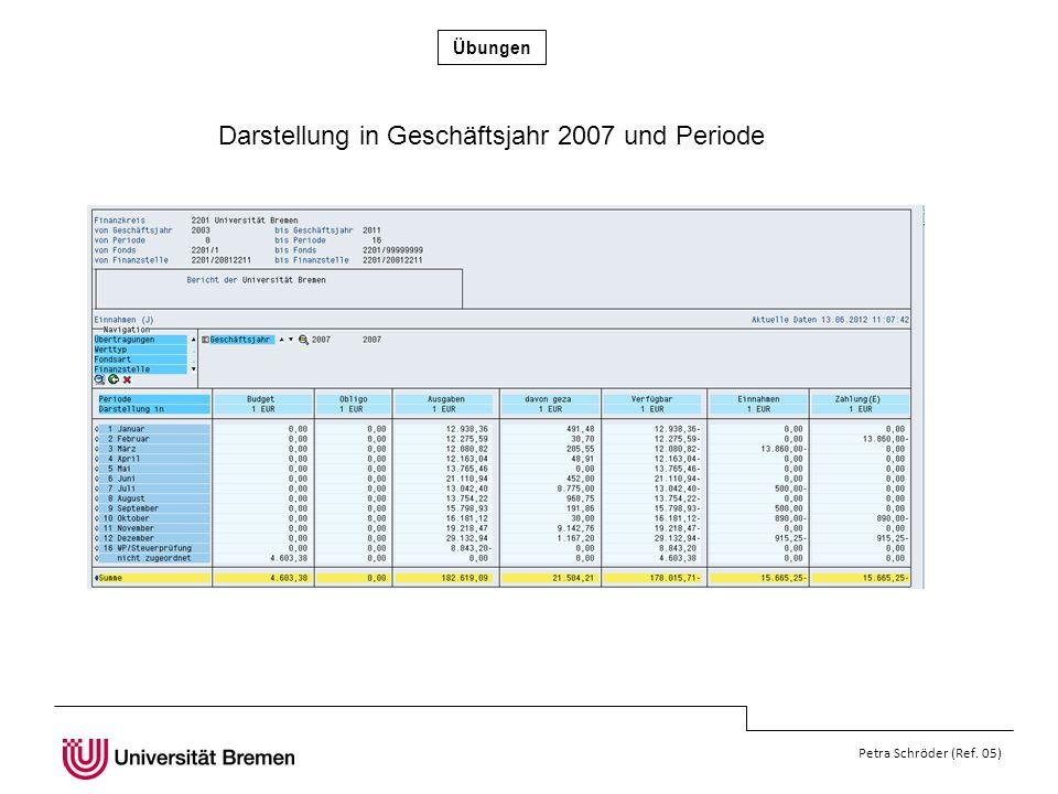 Darstellung in Geschäftsjahr 2007 und Periode