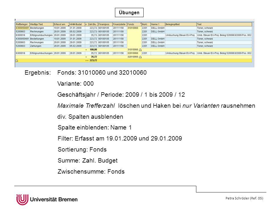 Geschäftsjahr / Periode: 2009 / 1 bis 2009 / 12