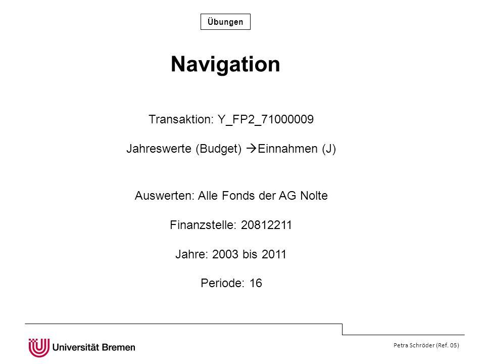 Navigation Transaktion: Y_FP2_71000009