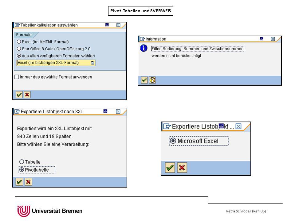 Pivot-Tabellen und SVERWEIS