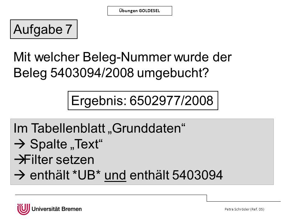 Mit welcher Beleg-Nummer wurde der Beleg 5403094/2008 umgebucht
