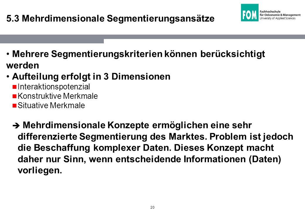 5.3 Mehrdimensionale Segmentierungsansätze