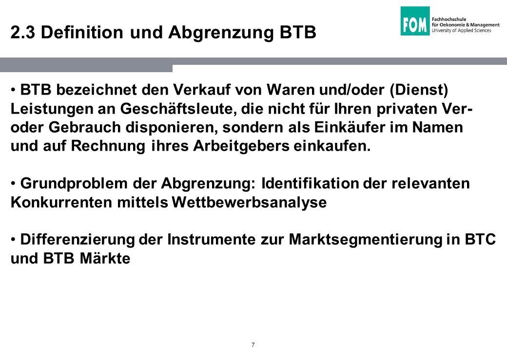 2.3 Definition und Abgrenzung BTB
