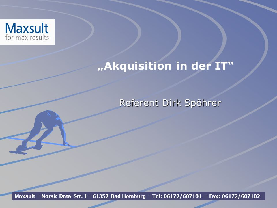 """Akquisition in der IT"