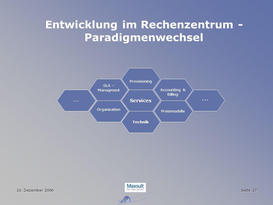 Entwicklung im Rechenzentrum - Paradigmenwechsel