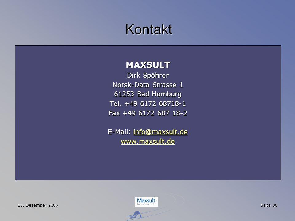E-Mail: info@maxsult.de