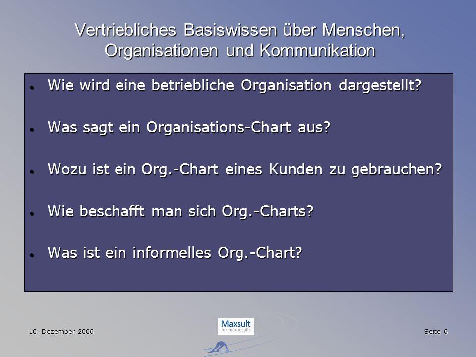 Vertriebliches Basiswissen über Menschen, Organisationen und Kommunikation