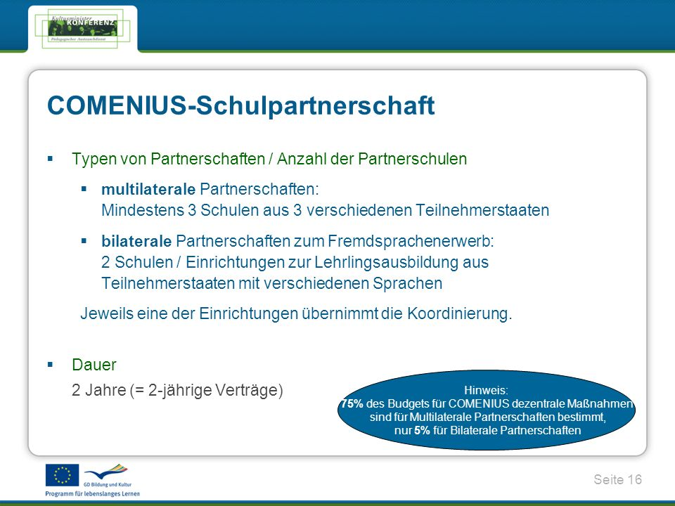 COMENIUS-Schulpartnerschaft