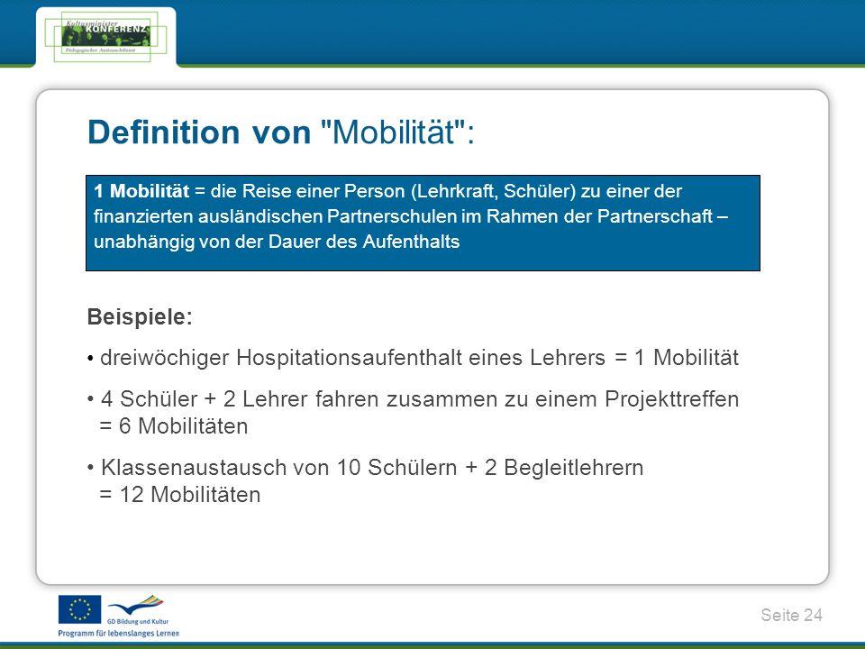 Definition von Mobilität :
