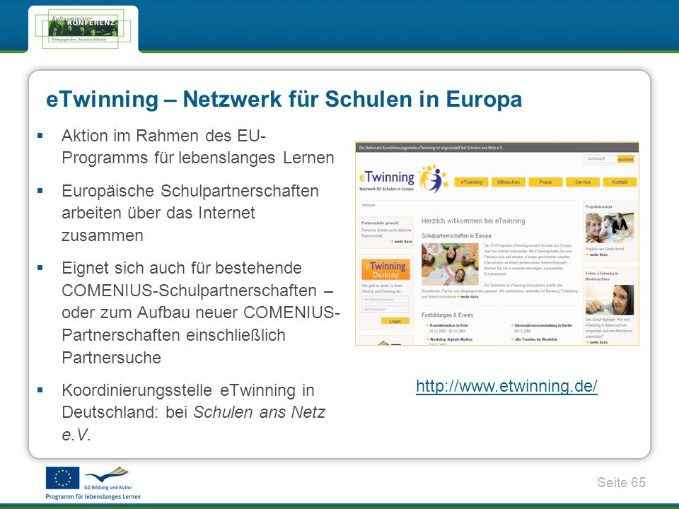 eTwinning – Netzwerk für Schulen in Europa