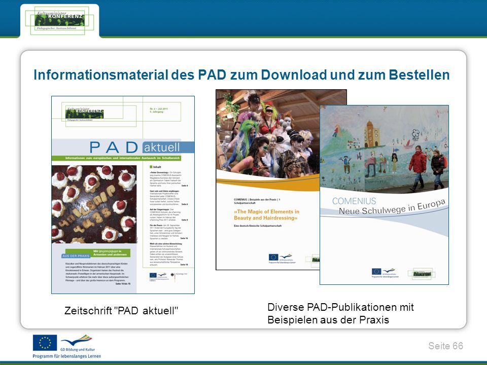 Informationsmaterial des PAD zum Download und zum Bestellen